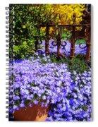Sidewalk Spring Scene Spiral Notebook