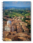 Siena From Above Spiral Notebook