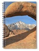 Sierras Under Mobius Spiral Notebook