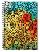 Siesta Sunrise - Stone Rock'd Art Painting Spiral Notebook