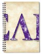 Sigma Lambda Beta - Parchment Spiral Notebook