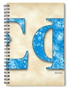 Sigma Phi Society - Parchment Spiral Notebook