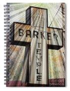 Sign - Barker Temple - Kcmo Spiral Notebook