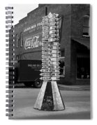Sign Post In Crossville Tennessee 1939 Spiral Notebook