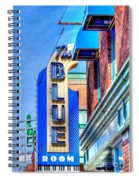 Sign - The Blue Room - Jazz District Spiral Notebook