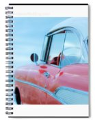 Signed Chevy Belair At The Beach Mini Spiral Notebook