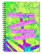 Signs Of Life Spiral Notebook