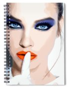 Silence - Pretty Faces Series Spiral Notebook