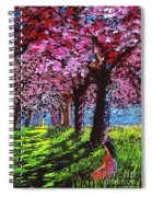 Contemporary Jesus Painting, Silent Communion Spiral Notebook