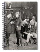 Silent Film Still: Cowboys Spiral Notebook