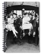 Silent Film Still: Parties Spiral Notebook