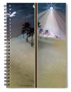 Silent Night - Gently Cross Your Eyes And Focus On The Middle Image Spiral Notebook