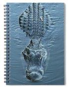 Submerged Alligator Approach Spiral Notebook