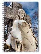 Silent Winter Angel Spiral Notebook