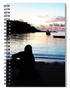 Silhouette At Sunrise Spiral Notebook