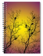 Silhouette Birds Spiral Notebook
