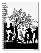 Silhouette Family Life Spiral Notebook