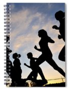 Silhouette Female Runners Spiral Notebook