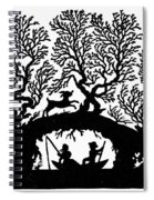 Silhouette Fishing Spiral Notebook