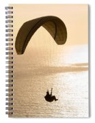 Silhouette Of A Paraglider Flying Spiral Notebook