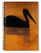 Silhouette Of A Pelican Spiral Notebook