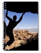 Silhouette Of A Rock Climber Spiral Notebook