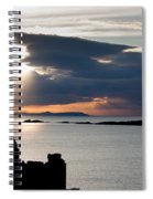Silhouette Of Dunluce Castle Spiral Notebook