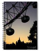 Silhouette Of London Eye Spiral Notebook