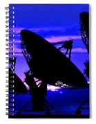 Silhouette Of Satellite Dishes Spiral Notebook