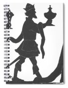 Silhouette Of Three Kings Spiral Notebook