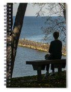Silhouette On The Hill Spiral Notebook