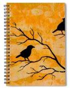 Silhouette Orange Spiral Notebook