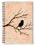Silhouette Pink Spiral Notebook