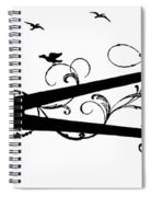 Silhouette Scissors Spiral Notebook