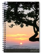 Silhouette Sunrise Spiral Notebook