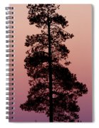 Silhouette Tree At Sunrise Spiral Notebook