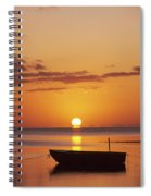 Silhouetted Boat Spiral Notebook