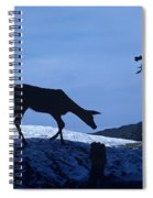 Silhouetted Deer Spiral Notebook