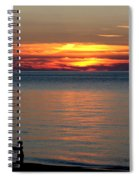 Silhouetted In Sunset At Sturgeon Point Marina Spiral Notebook