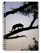 Silhouetted Leopard Spiral Notebook