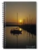 Silhouetted Man On Sailboat Spiral Notebook