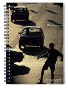 Silhouetted Skateboarder Spiral Notebook