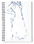 Silhouetted Woman Standing Spiral Notebook