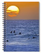 Silhouettes And Gold Spiral Notebook