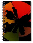 Silhouettes Around The Balloon Spiral Notebook