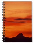 Silhouettes Of Alps Spiral Notebook