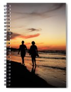 Silhouettes On Varadero Beach Spiral Notebook