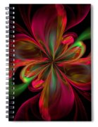 Silk Butterfly Abstract Spiral Notebook