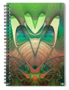 Silk Fan - Abstract  Spiral Notebook
