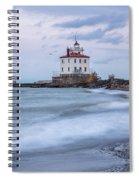 Silken Waves Spiral Notebook